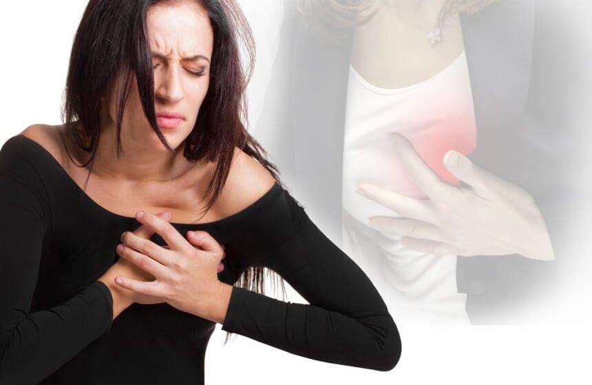 dolor en el pecho y corazon acelerado