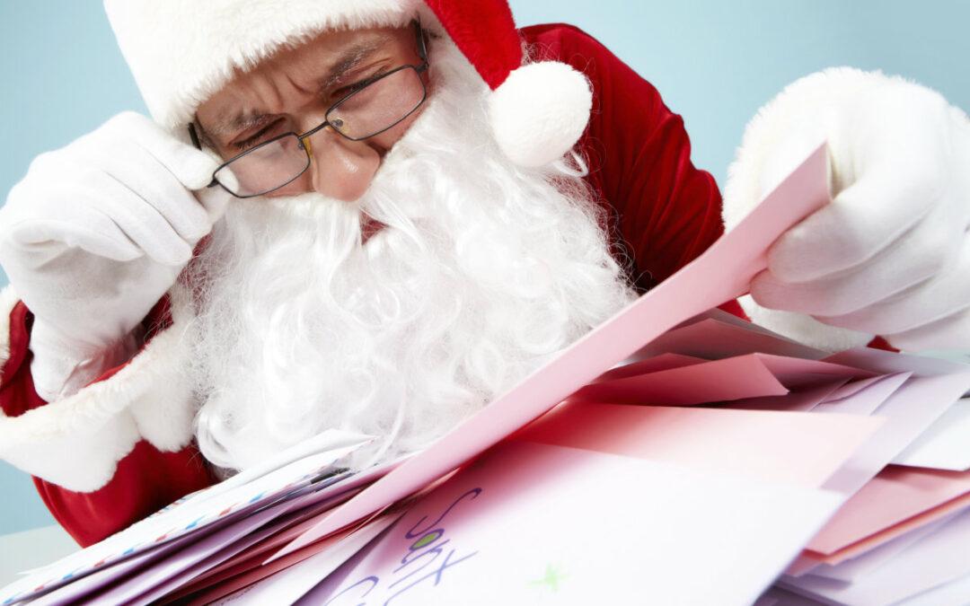 qué pedir y qué no a Papa Noel